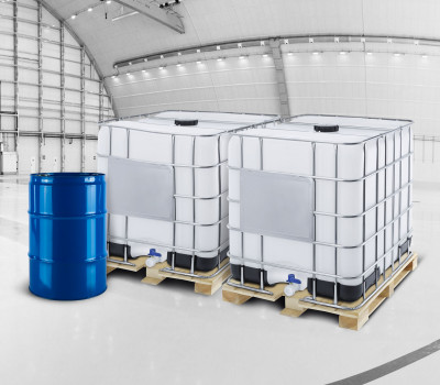 Flamers, solvents in barrels, IBC-containers